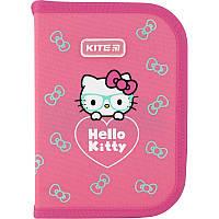 Пенал 1 відділення з 2-ма відворотами 622 Hello Kitty, Kite, фото 1