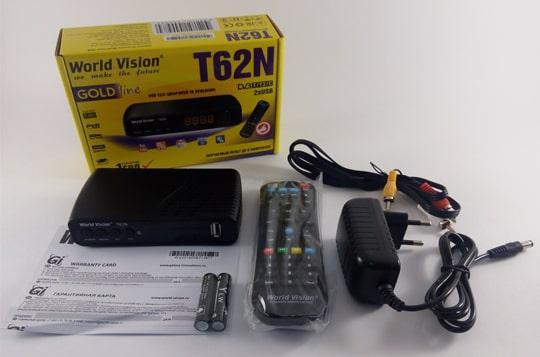 Цифровой тюнер Т2 World Vision T62N