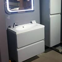 Комплект Titania, шкафчик с умывальником торговой марки Fancy Marble. Размер шкафчика 700х670х400