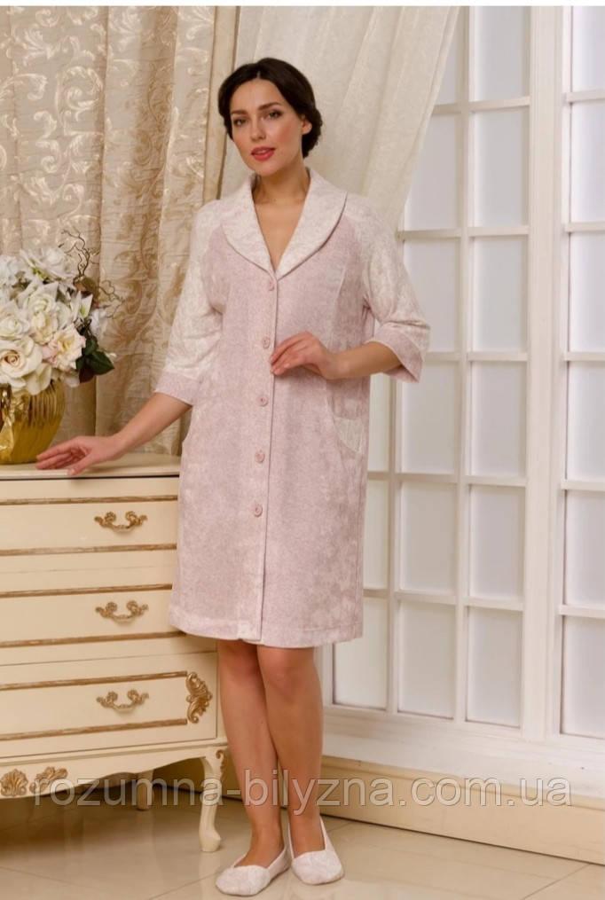Халат натільний жіночий рожевий, L, XL, 2XL TM Emmi