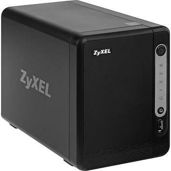 Сетевое хранилище Zyxel NAS326 на 2 диска (до 12 ГБ каждый), 1xLAN GE, 2xUSB3.0, 1xUSB2.0