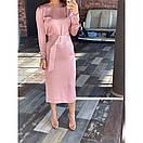 Платье с поясом шелковое, фото 3