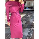 Платье с поясом шелковое, фото 2