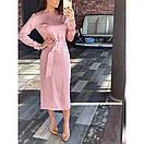 Платье с поясом шелковое, фото 4
