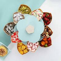 Вращающаяся тарелка для закусок, фруктов и сладкого