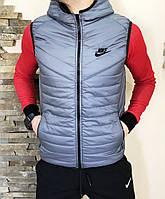 Жилетка мужская серая стильная найк - Nike grey