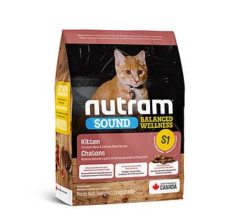 Сухой корм для котят, беременных и лактирующих кошек S1 Nutram Kitten 1,13 кг