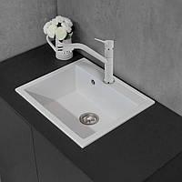 Кухонная мойка из литого камня Fancy Marble Oregon 590х500х210 мм