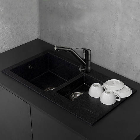 Кухонная мойка из литого камня Fancy Marble Alabama 780x435x160 мм, фото 2