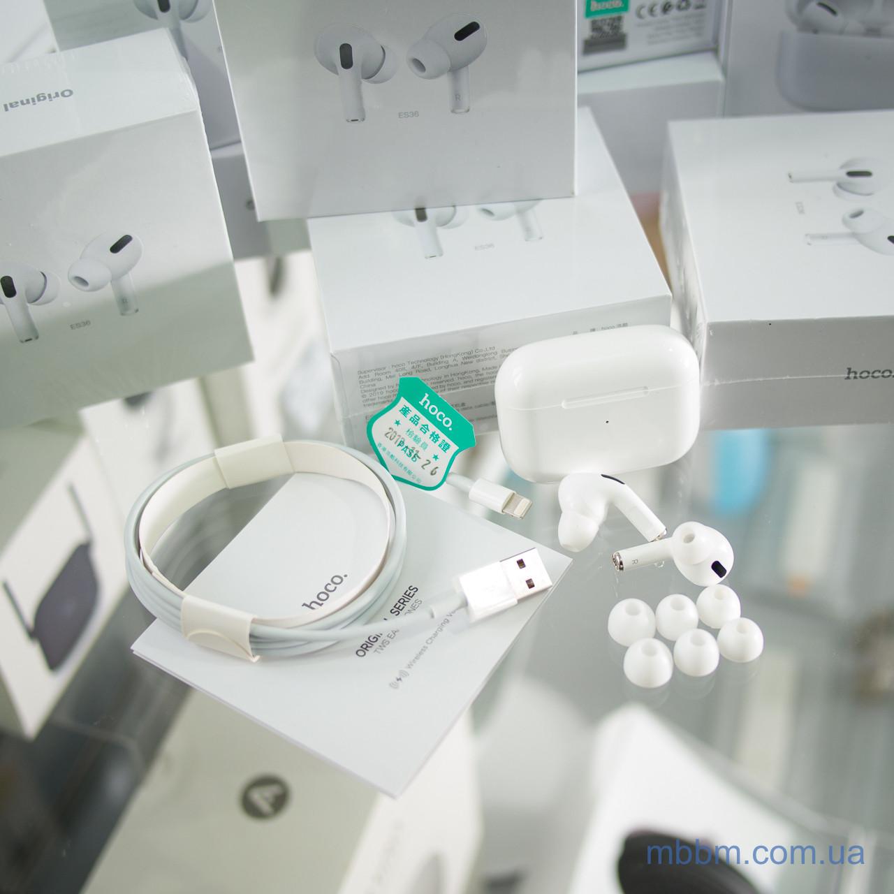 Беспроводные наушники Bluetooth hoco. ES36 Original +Чехол в подарок! Пластик Без крепления Наушники