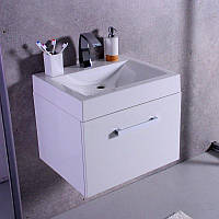 Комплект Santa Cruz, шкафчик с умывальником Lily 600C торговой марки Fancy Marble. Размер шкафчика 800х500х530