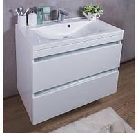 Комплект Borneo 800, шкафчик с умывальником торговой марки Fancy Marble. Размер шкафчика 800х472x670 мм.