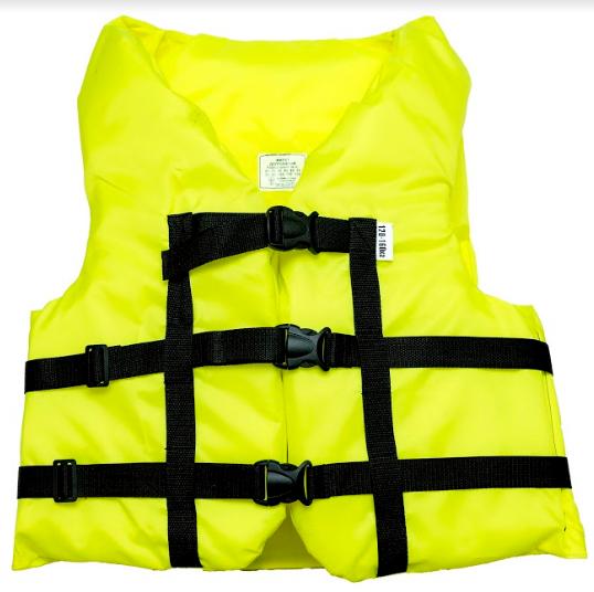 Страховочный желет  Aqua-Storm (NEW) желтый 120-160 кг