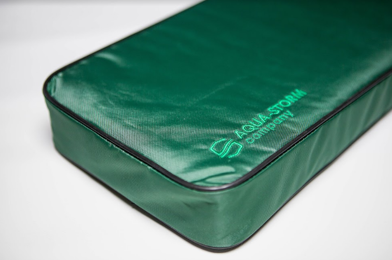 Мягкое сидение 650*200*50 мм для надувных лодок Aqua-Storm зеленый