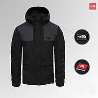 Куртка мужская стильная ветровка серая и черная The North Face 1985 Seasonal Mountain Jacket - BLACK/GRAY