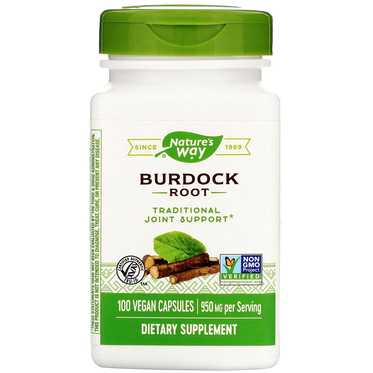 "Корень лопуха Nature's Way ""Burdock Root"" 950 мг (100 капсул)"