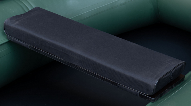 Сиденье мягкое 710*200*50 мм с кедром №2 Aqua-Storm черный