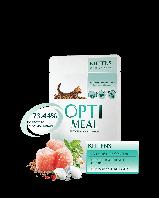 OPTIMEAL Влажный корм для котят - с КУРИЦЕЙ