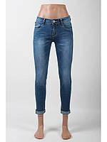 Джинсы женские голубые укороченые/стрейчевые джинсы скини