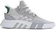 """Мужские кроссовки Adidas Equipment *EQT* Bask ADV """"Grey Green"""" - """"Серые Зеленые"""""""