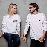 """Свитшоты парные """"One Love"""""""