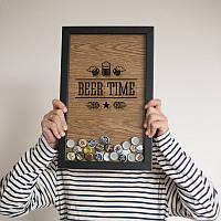"""Рамка для пивных крышек """"Beer time"""""""