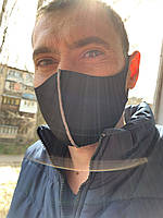 Маска защитная тканевая для лица из неопрена и дайвинга маска многоразовая цена за 10 шт-460 грн, 1-шт-55 грн