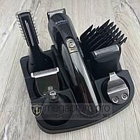 Триммер с насадками Gemei KM-600 Беспроводная аккумуляторная машинка для стрижки волос и бороды 11 в 1