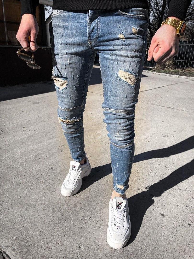 Мужские джинсы,зауженные