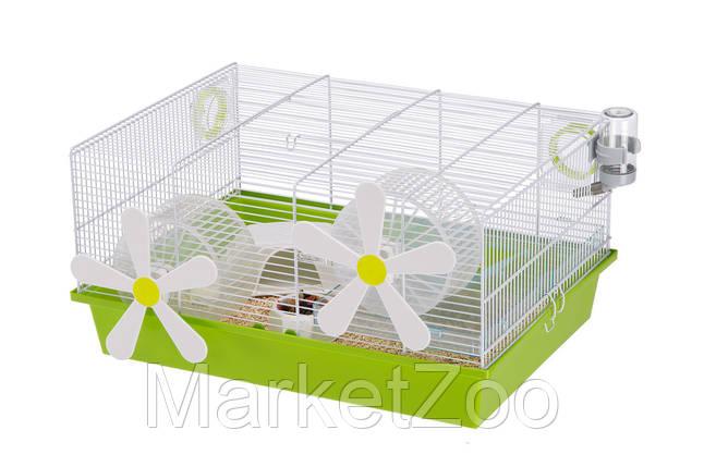 Клетка Ferplast MILOS MEDIUM FLOWERS для хомяков и мышей, фото 2