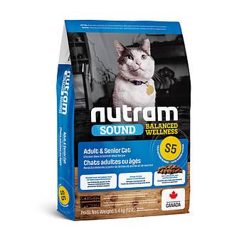 Сухой корм для кошек Уринари (профилактика моче-каменной болезни) S5 NUTRAM Urinary Cat 5,4 кг