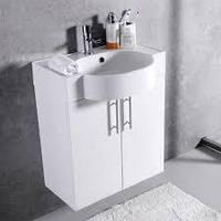 Комплект Ибица 50, шкафчик с умывальником торговой марки Fancy Marble. Размер шкафчика 512х600х320