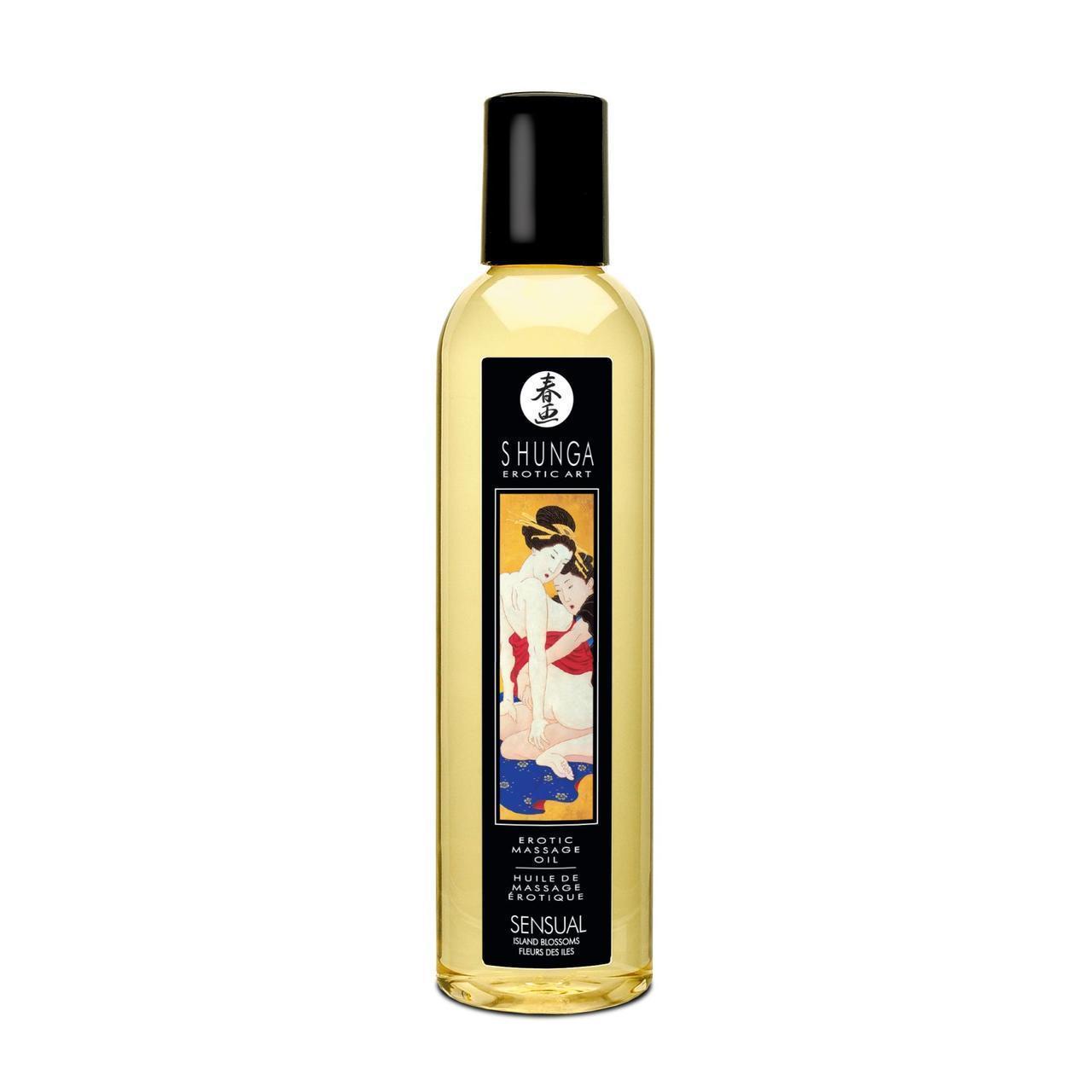 Массажное масло Shunga Sensual - Island Blossoms (250 мл)
