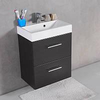 Комплект Крит 55, шкафчик с умывальником торговой марки Fancy Marble. Размер шкафчика 550х610х360