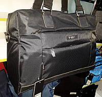 Спортивно дорожная сумка черная Dolly 792 большая ремень на плечо и карманы спереди 51*34*20 см
