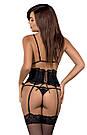 Комплект нижнего белья черный Obsessive KISSELENT SET, фото 4