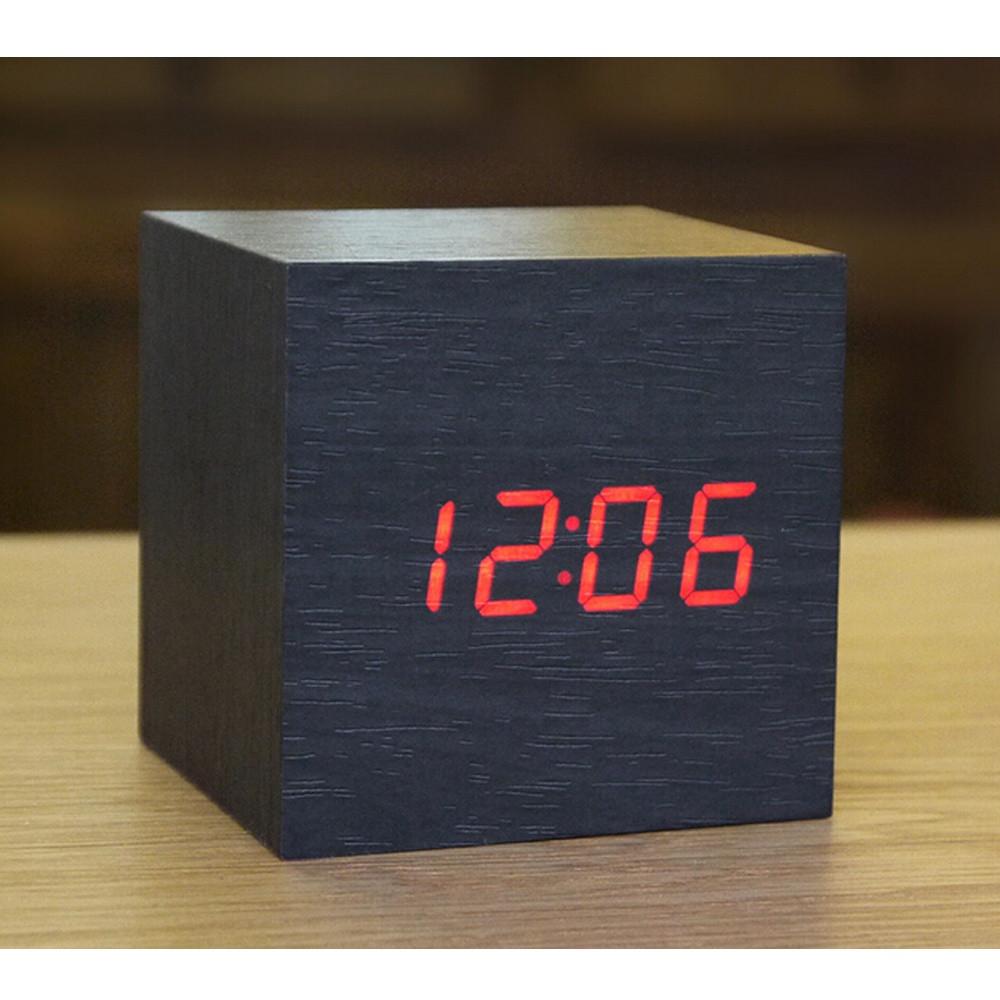 Настольные электронные часы в деревянном корпусе VST-869-1