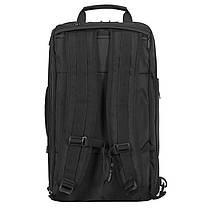 Рюкзак-сумка міської Ozuko 9225 Black дорожня трансформер для подорожей з USB-портом кодовим замком, фото 3