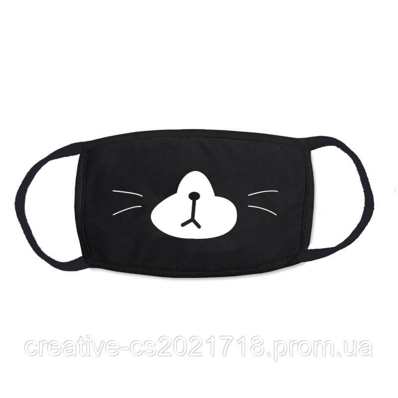 Многоразовая  маска-повязка с принтом