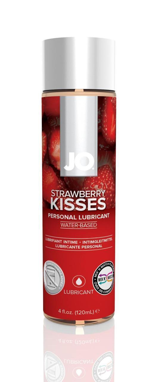 Смазка на водной основе System JO H2O - Strawberry Kiss (120 мл) без сахара, растительный глицерин