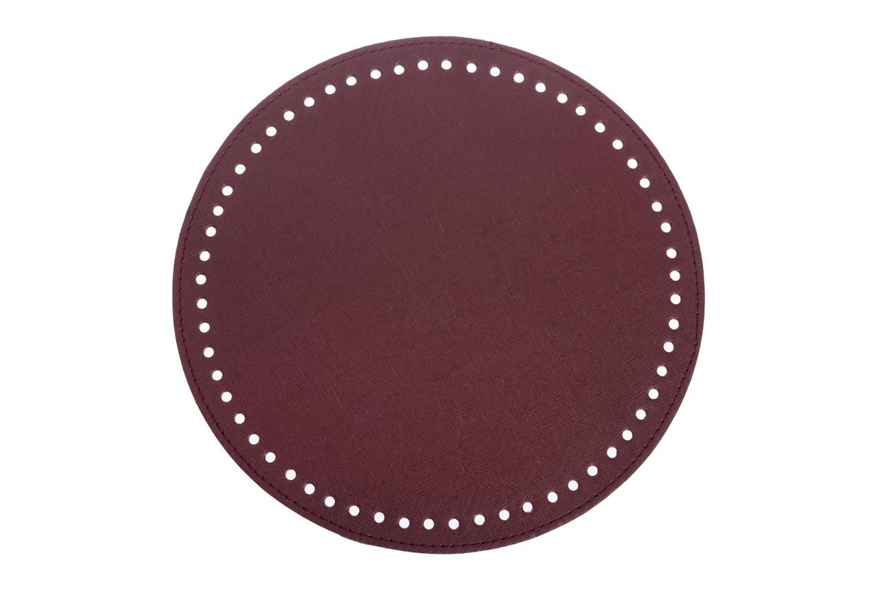 Донышко круглое для сумки экокожа Бордо Ø 25 см