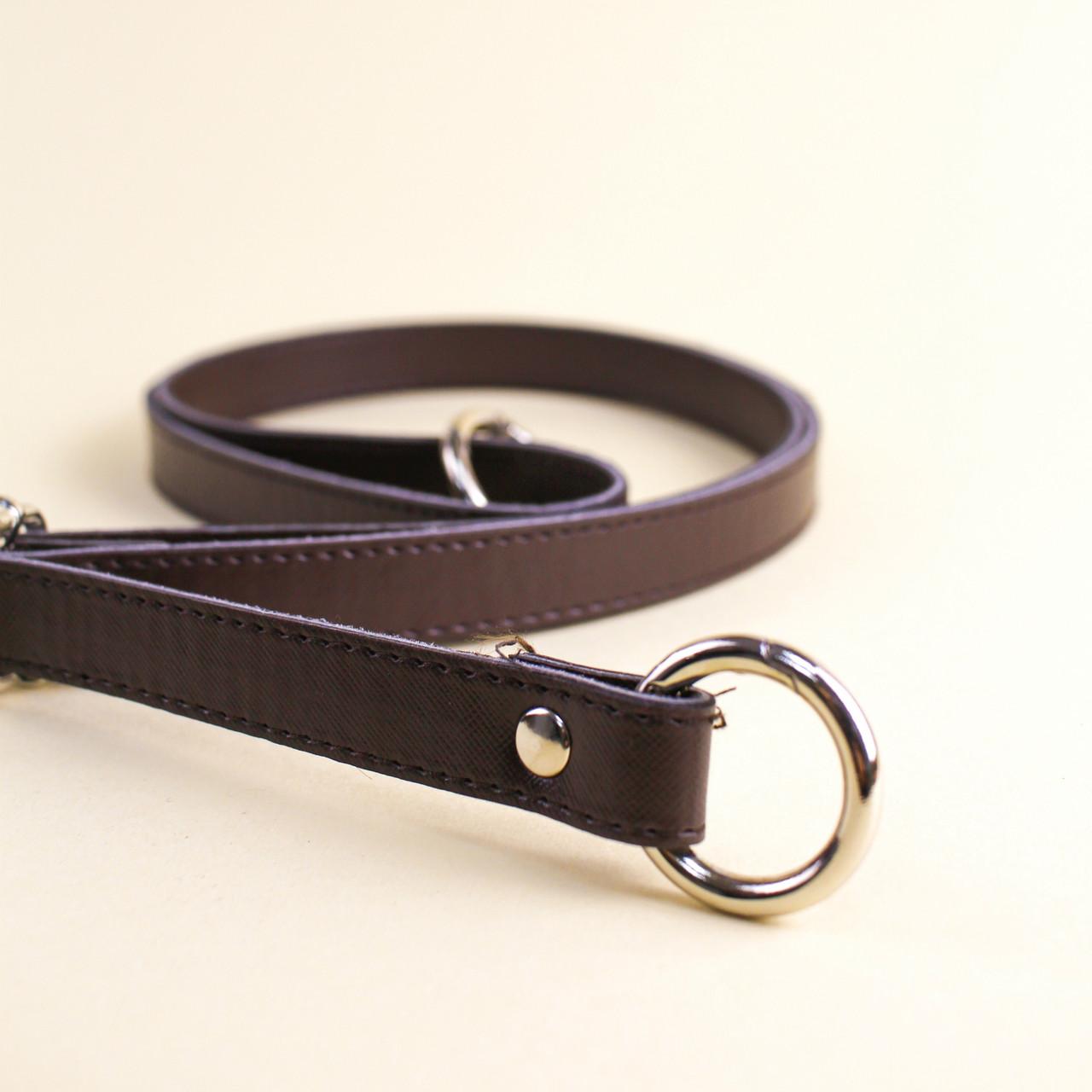 Ручка для сумки экокожа Шоколад, 68-126 см, на кольцах-карабинах