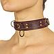 Премиум ошейник LOVECRAFT размер M фиолетовый, натуральная кожа, в подарочной упаковке 18+, фото 3