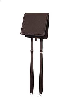 Клапан+задняя стенка для рюкзака экокожа Шоколад 23см с лямками фурнитура серебро