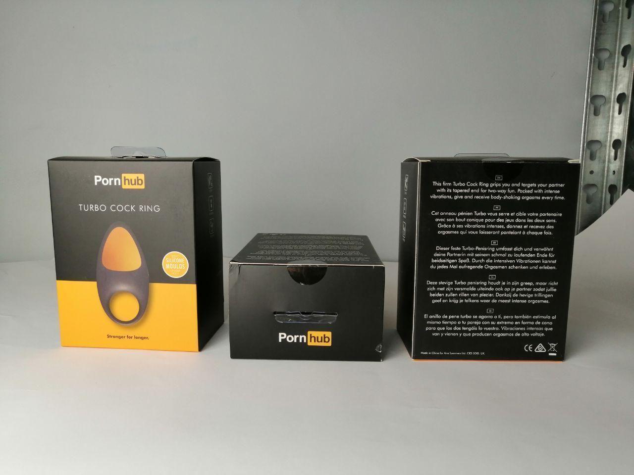 Эрекционное виброкольцо Pornhub Turbo Cock Ring (незначительные дефекты упаковки) 18+