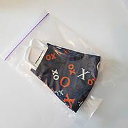 Тканинна маска багаторазова для особи опт і роздріб (колір ХО), фото 3
