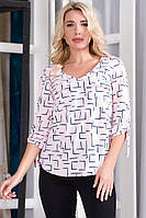 Жіноча блуза з рукавами трансформерами , 5 кольорів  .Р-ри 48-56