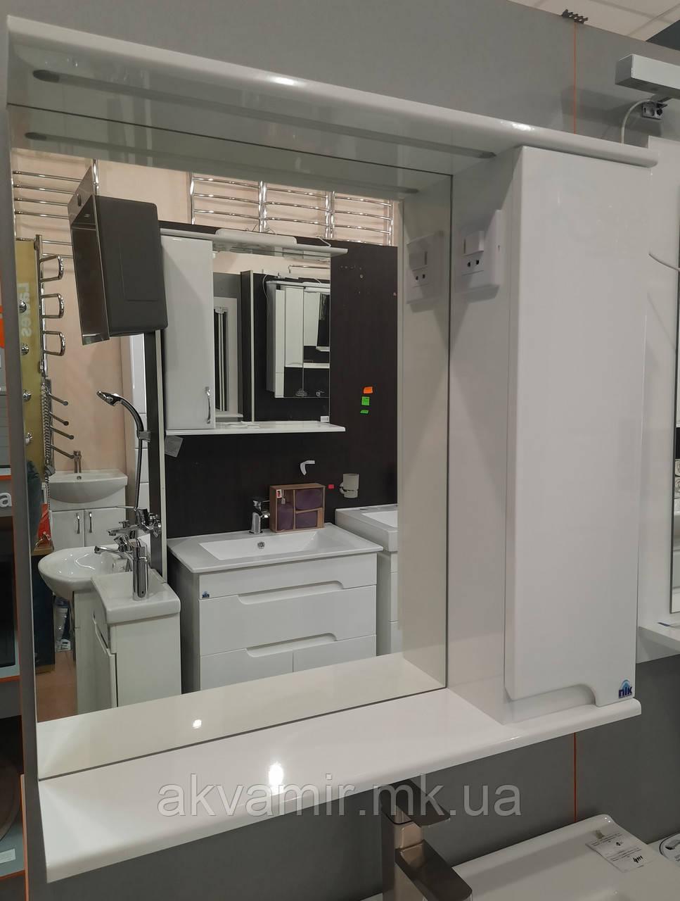 Зеркало в ванную Симпл ПиК 60 см белое с подсветкой
