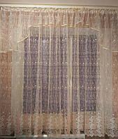 """Готовая занавеска с нежной вышивкой 4м ширины и 1,8м высоты """"Карина"""", фото 1"""
