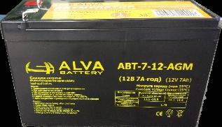 Аккумуляторные батареи, ALVA battery АВТ-5-12-AGM